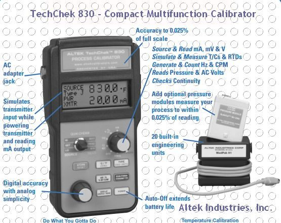 Compact Multifunction Calibrator - Altek