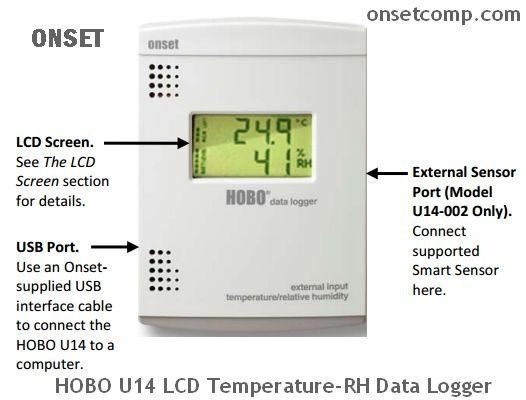 HOBO U14 LCD Temperature-RH Data Logger